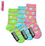 United Oddsocks Bunting pack of 3 odd socks for Girls (not pairs)
